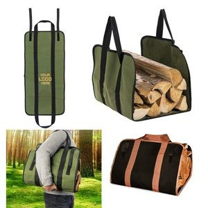 Firewood Carrier Canvas Log Tote Bag Carrier